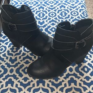 Madden Girl Black Ankle Boots